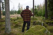 Stock Photo of Lumberjacks break