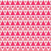 Heart shape seamless pattern. Pink color - stock illustration