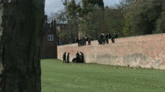 Eton Wall Game St Andrews Day 2015. Practise game with tree in fgd. Stock Footage