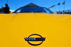 Chevrolet Corvette in a public US muscle cars V8 car show - stock photo