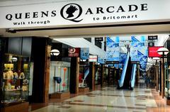 Queens Arcade - historic Auckland CBD shopping center - stock photo