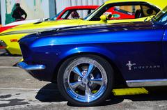 Ford Mustangs in a public US muscle cars V8 car show Kuvituskuvat