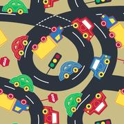 Transport and traffic seamless pattern Piirros