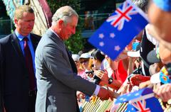 Prince of Wales visit to Auckland New Zealand - stock photo