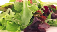 Fresh salad mix Stock Footage