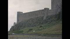 Vintage 16mm film, 1965, UK, Edinburgh castle Stock Footage