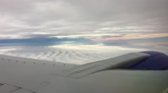 Flying Between Cloud Layers Stock Footage