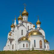 Orthodox Cathedral in Rostov-on-Don, Russia - stock photo