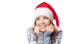 Smiley Santa girl Stock Photos