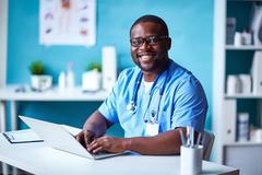 Clinician at work Stock Photos