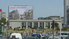 T-Mobile billboard in Warsaw Stock Footage