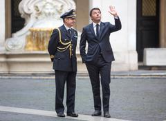 Prime Minister of Italy Matteo Renzi Stock Photos