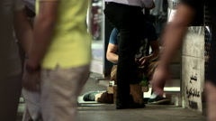 Shoeshiners in Beirut, Lebanon - stock footage