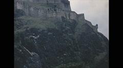Vintage 16mm film, 1965, Scotland, Edinburgh castle Stock Footage