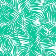 Tropical lush palms seamless pattern - stock illustration