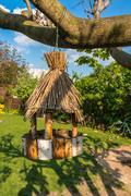 Nesting box, birdhouse for birds on the tree Kuvituskuvat