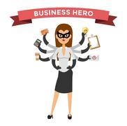 Stock Illustration of Superhero business woman vector