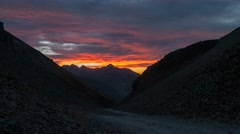 Ophir Pass Colorado Sunset 4k Timelapse Stock Footage