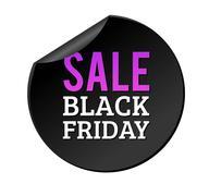 Black Friday sale badges Stock Illustration