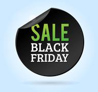 Black Friday sale badges - stock illustration