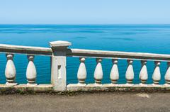Railing by the Black sea in Georgia Stock Photos