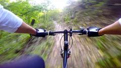 4k Downhill on mountain bike Stock Footage