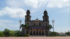 Santiago of Managua Cathedral, time lapse Stock Footage