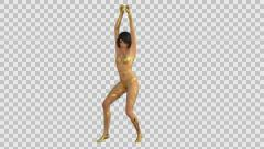 girl  dancing sexy dance striptease transparent background, alpha channel hromak - stock footage