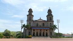 Santiago of Managua Cathedral Stock Footage