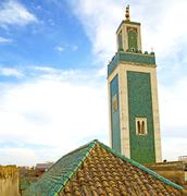 Mosque muslim     the history  symbol  in morocco  africa  minaret   religion Stock Photos