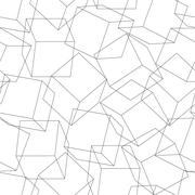 Wireframe 3D blocks in a seamless pattern - stock illustration