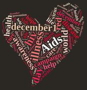 International AIDS Day. Stock Illustration