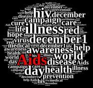 Stock Illustration of International AIDS Day.