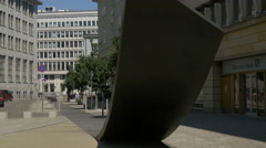 View of the Monument for Freedom of Speech in Warsaw Stock Footage