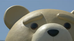 Close up view of a statue representing a bear in Warsaw Stock Footage