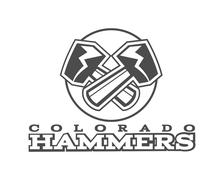 American football label. Hammer logo element innovative and creative inspiration - stock illustration