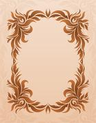 Luxurious vintage frame on grunge background with  blank space for text. Retr Stock Illustration