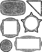 Stock Illustration of Set of six grunge vector templates for rubber stamps