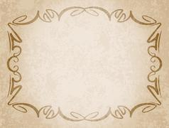 Luxurious vintage frame on grunge background with the blacked out edges and a - stock illustration