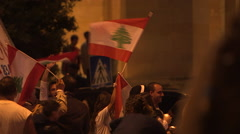 Demonstration in Beirut, Lebanon - stock footage