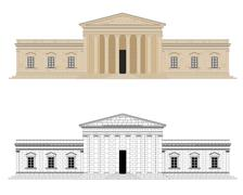 Classicistic Palace Vector Illustration - stock illustration