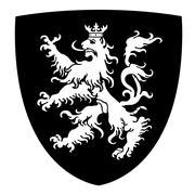 Rampant Lion Coat of Arms Stock Illustration