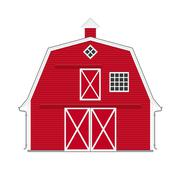 Traditional american red barn isolated Stock Illustration