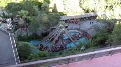Tibidado amusment park Stock Footage