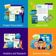 Concept Business Strategy Analytics and Research Stock Illustration