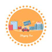 Shopping Tour - stock illustration