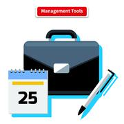 Management Tools Stock Illustration