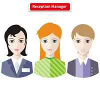 Reception Manager Stock Illustration