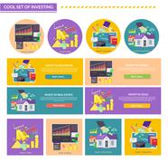 Concept Investment Gold Education Property Shares Stock Illustration