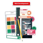 Stock Illustration of Web Development Concept